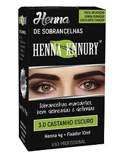 Henna Knnury - Para Sobrancelhas 3.0 Castanho Escuro