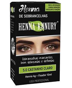 Henna Knnury - Para Sobrancelhas 5.0 Castanho Claro