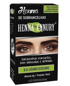 Henna Knnury - Para Sobrancelhas 6.0 Louro Escuro