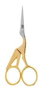 Edel Solingen - Tesoura Reta Sobrancelha Cegonha Dourada 11cm