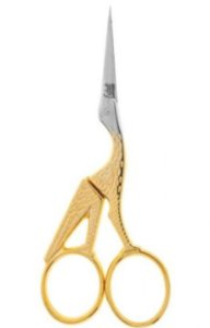 Edel Solingen - Tesoura Sobrancelha Cegonha Dourada 9cm