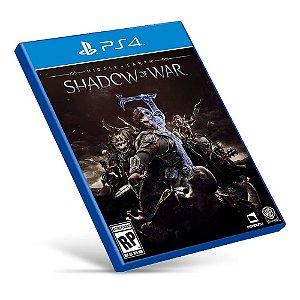 Middle-earth Shadow of War - Ps4 - Mídia Digital