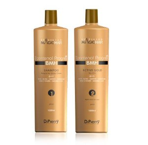 Kit Dipierry Profissional D'pantenol Progress Vit B5 Active Gold No Frizz - Passo 1- 2