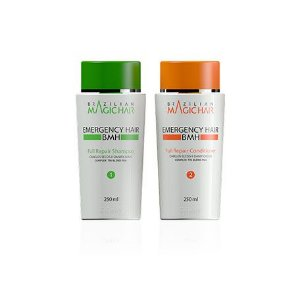 Kit Full Repair Shampoo E Conditioner Emergency Hair 250 Ml DiPIerry Profissional – Cabelos Secos e Danificados  - Complex Tri-Blend PGA