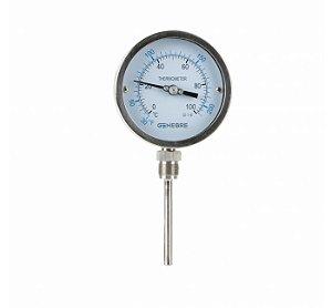 Termômetro Bimetálico D100 Inferior 8037 Genebre