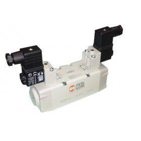 Válvula ISO Série ISV Dupla Solenoide 220V Metal Work