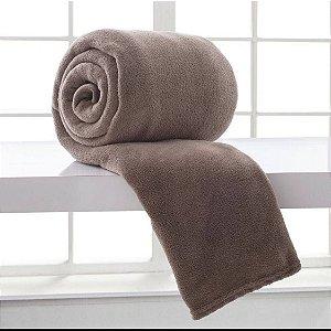 Manta para cama Casal Microfibra 100% poliéster - Cor Bege