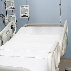 Lençol Hospitalar Branco Percal 200 fios 100% Algodão - Avulso