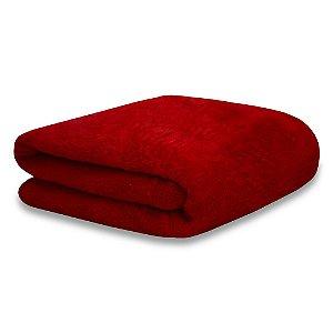 Mantinha Soft Fleece Premium 2,0 x 1,8m - Vermelho Rubi