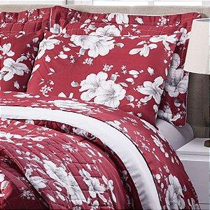 Jogo de lençol Classic 3 peças Queen Dama de vermelho