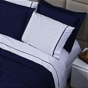 Jogo de Lençol Versatile 100% algodão - Azul Marinho