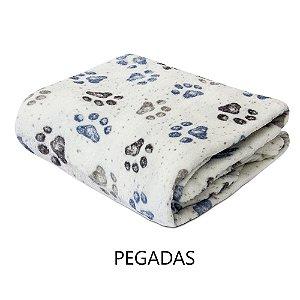 Mantinha Soft Fleece Premium 2,0 x 1,8m - Pegadas