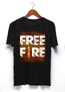 Camisa Free Fire - Preta