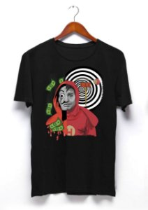 Camisa La Casa de Papel e Chapolin - Preta