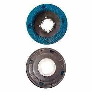 Escova Enceradeira Base Plástica Nylon 410mm Com Flange - Certec