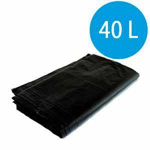 Saco De Lixo Preto 40 Litros 100 Unidades