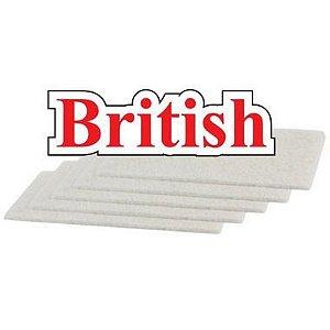 Fibra Branca De Limpeza Geral Macia Pacote Com 10 Super British