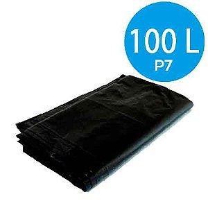 Saco de Lixo Preto 100 Litros P7 100 Unidades