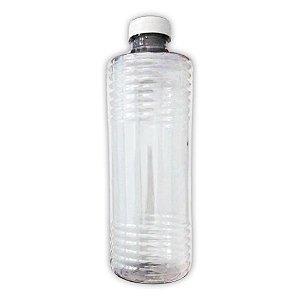 Frasco Garrafa De Plástico Reforçado 1 Litro Com Tampa Boca Larga