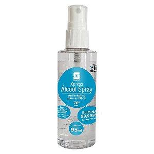 Álcool 70 Spray Xpress 95ml Antisséptico Para As Mãos- Spartan