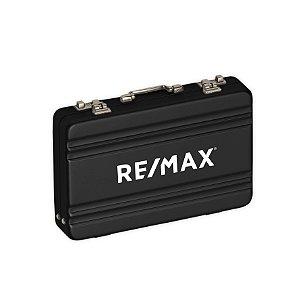 Porta Cartão Maleta Alumínio Re/max- 13160 - COM NOME INDIVIDUAL