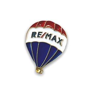 Pin em metal balão remax DOURADO - PINO