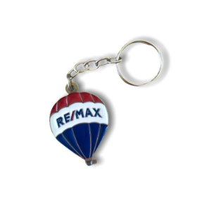 Chaveiro balão REMAX fundido niquelado ( prata )