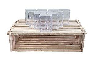 Kit Com 60 Cubos De Acrílico + 10 Quadros de Melgueira Para Cubo