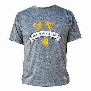 Camiseta TNA Nunes Proud Bee-Ing - Cinza
