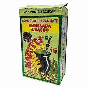Erva Mate Composta Para Chimarrão Mazutti Embalada A Vácuo - 1Kg