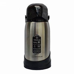 Garrafa Térmica Inox R-evolution 1.2L Bomba Pressão Termolar