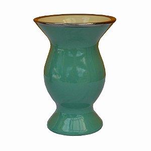 Cuia de Cerâmica Platina Cor Verde