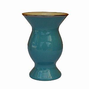 Cuia de Cerâmica Platina Cor Azul
