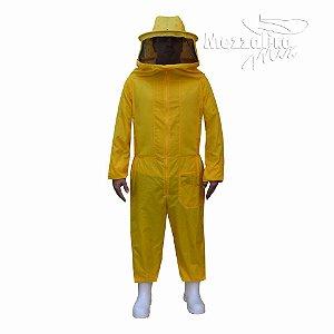 Macacão Para Apicultura De Nylon Amarelo Super Ventilado Com Mascara Destacável 02-80ND5
