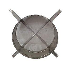 Peneira Inox Tela Fina Para Filtragem Do Mel Em Decantador - 630mm