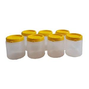 Pote Plástico Para Embalar Mel Com Tampa Lacre 500 Gramas - 216UN