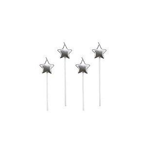 Vela Estrela Prateado