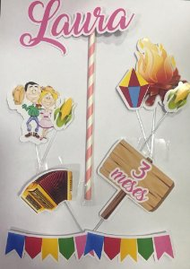 Topo de bolo personalizado Festa Junina
