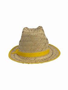 Chapéu De Palha Junino Amarelo
