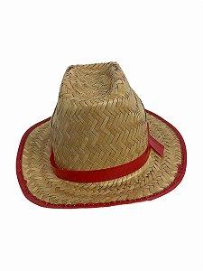 Chapéu De Palha Junino Vermelho
