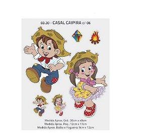 Painel Decorativo Casal Caipira - 06 unidades