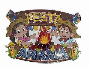 PAINEL DECORATIVO FESTA ARRAIÁ-  C/ 01 UNIDADE