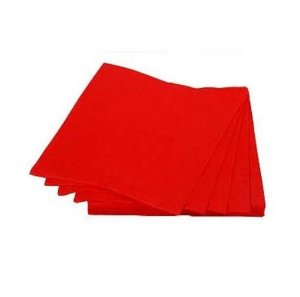 Guardanapo de papel Vermelho c/ 20 unidades