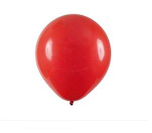 Balão Látex Vermelho Tamanho 8 Buffet Liso c/ 50 unidades