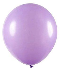 Balão Látex Lilás Tamanho 8 Buffet Liso c/ 50 unidades