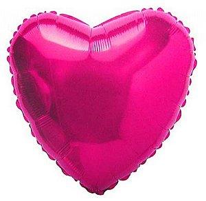 Balão Metalizado 18P - Coração Rosa Pink
