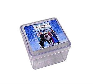 Caixa Acrílica 5cm X 5cm c/ Adesivo Personalizado