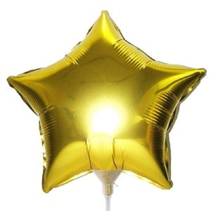 Balão Metalizado 9P - Estrela Lisa Dourada