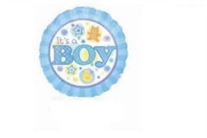 BALAO  METALIZADO 9P - ITS A BOY AZUL ROYAL