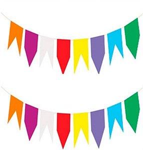Bandeirinhas plásticas com 20 unidades